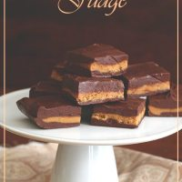Easy Chocolate Peanut Butter Cup Fudge