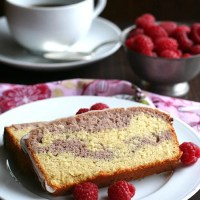 Raspberry Swirl Pound Cake and a KitchenAid Juicer Review