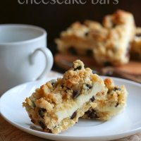 Chocolate Chip Cookie Cheesecake Bars