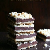 Chocolate Fudge Crumb Bars