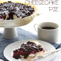 No Bake Blueberry Cheesecake Pie