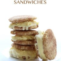 Snickerdoodle Ice Cream Sandwiches