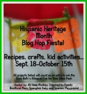 Hispanic Heritage Month Blog Hop Fiesta
