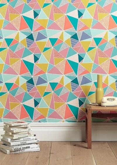 Wandgestaltung mit Tapeten- lustige und originelle Tapetenmuster Ideen