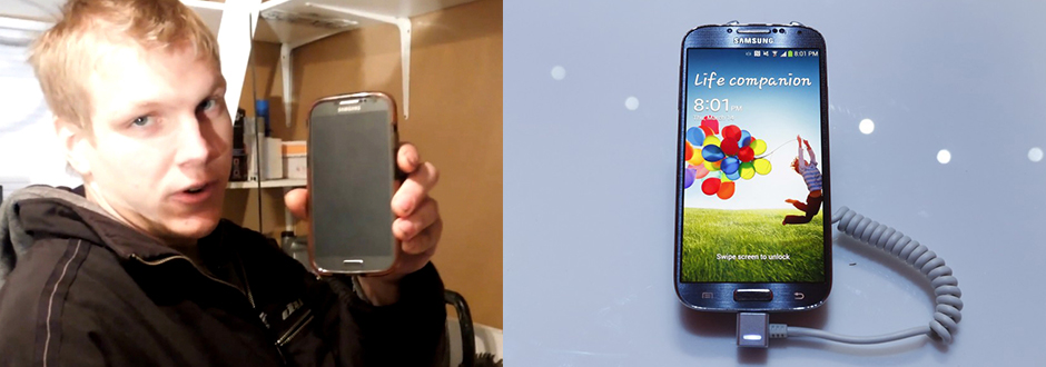 Samsung Galaxy S4 catches fire and Company tries to cover the issue
