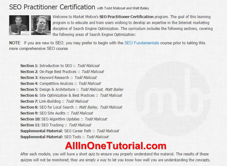 SEO Practitioner Certification Full Tutorial (HD)(Free Download)