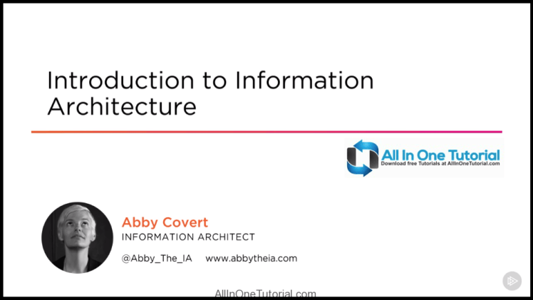 Introduction to Information Architecture Video Training Free Download