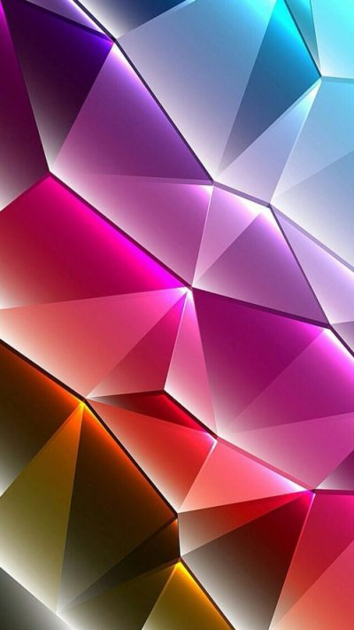 Cool Phone Wallpapers 01 of 10 with Colorful 3D Triangles - HD Wallpapers | Wallpapers Download ...