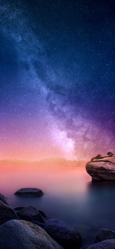 Top 10 Best Alternative Wallpaper for Apple iPhone XS Max 08 of 10 - Galaxy on Sky - HD ...