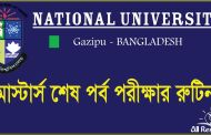 Masters Final Year Exam Routine 2016 NU.edu.bd