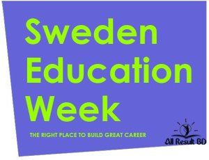 Sweden Education Week