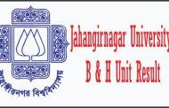 Jahangirnagar University B and H Unit Result 2016