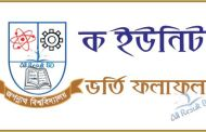 Jagannath University A Unit Seat Plan & Admission Result 2016