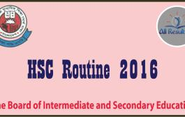 HSC Routine 2016 Dhaka Bangladesh Education Board Exam