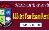 National University LLB 1st Year Exam Result 2016