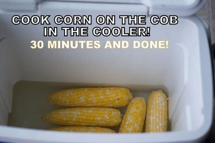 This Cooler Corn recipe is the best way to make large amounts of corn on the cob in the cooler. Once you make it this way, you won't want to go back to cooking it on the stove.
