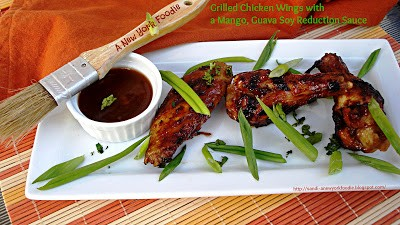 Grilled Chicken with Mango Guava Soy Reduction