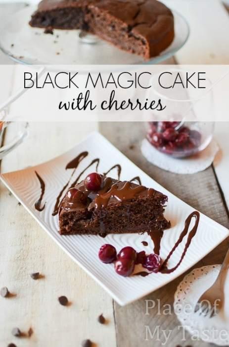 Black Magic Chocolate Cake with Cherries