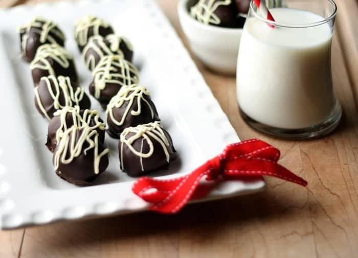 dark chocolate almond truffles