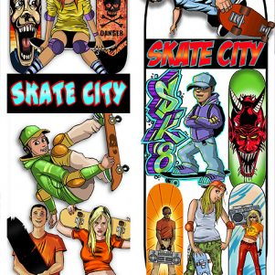 Skate City Stickers