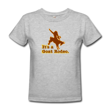 gray-it-s-a-goat-rodeo-women-s-t-shirts