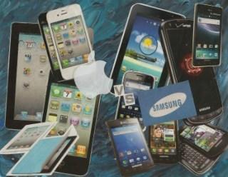 Apple v Samsung collage
