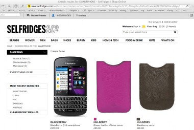 Selfridges_vast_smartphone_selection