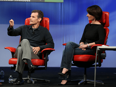 Motorola's Dennis Woodside and Regina Dugan