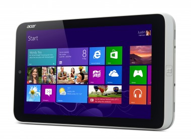 Acer Iconia W3 horizontal Win 8 angle