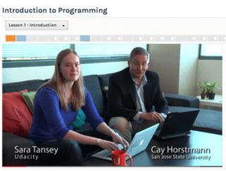 A newer Udacity course features co-hosts