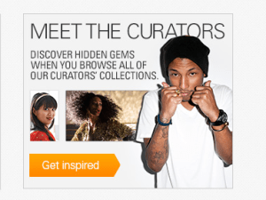 ebay Today homepage curators