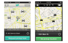 Much in common: the main live map screens for Lyft and Uber (to be fair, this is an older version of Uber).