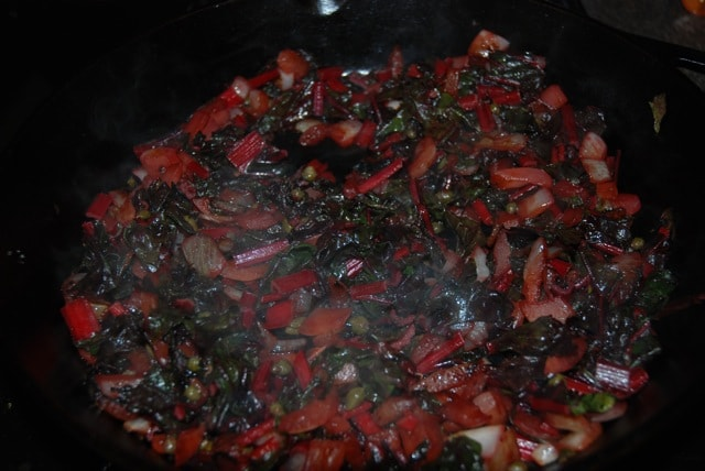 Red chard - after