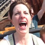 Fadra screaming on Big Thunder Mountain Railroad