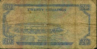 Twenty Shilling Banknote - back