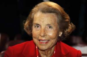 Liliane Bettencourt and family