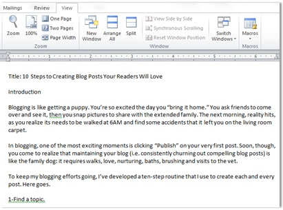 10 Steps to Creating Blog Posts Your Readers Will Love