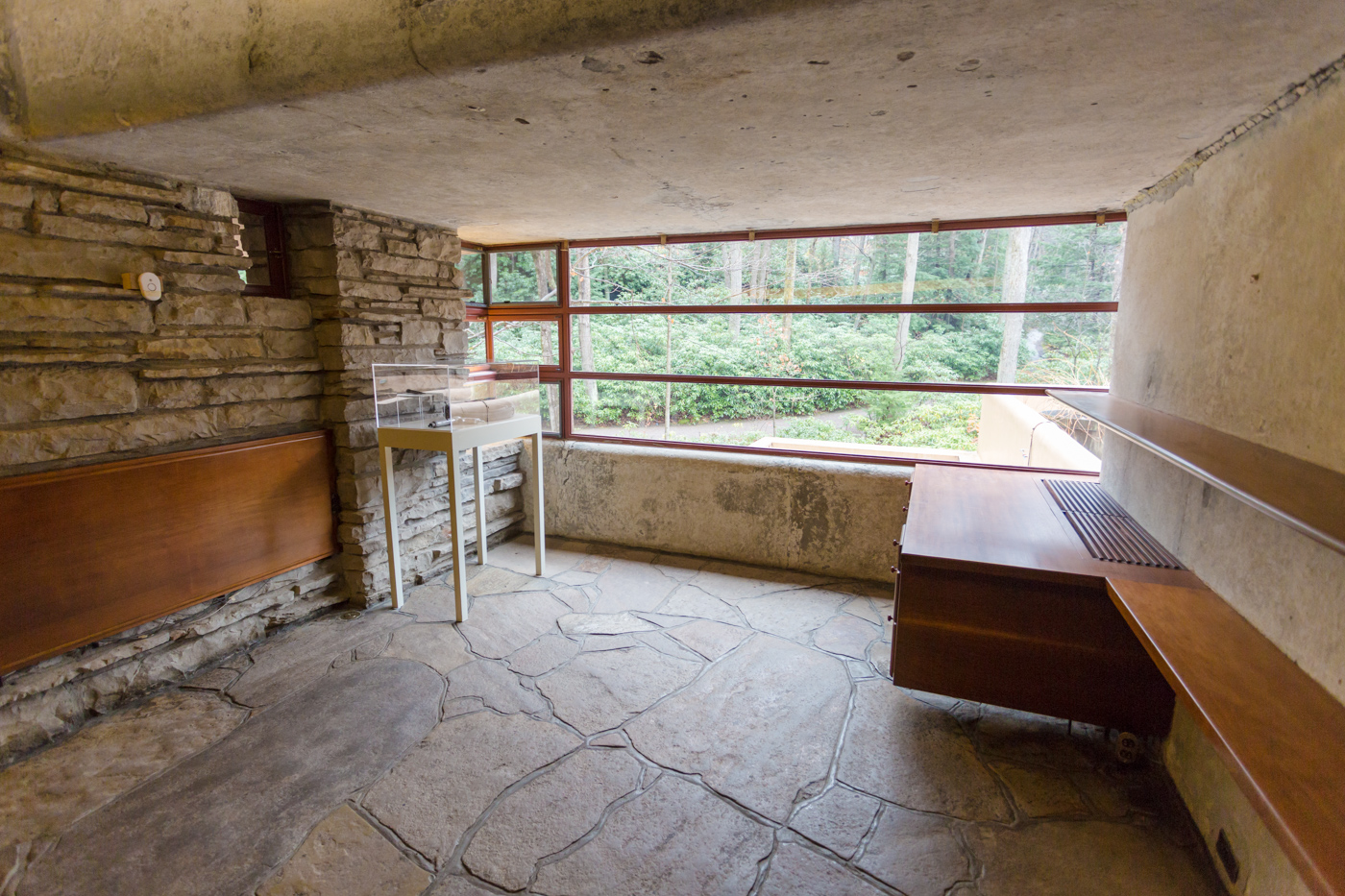 Bedroom under repair at Fallingwater