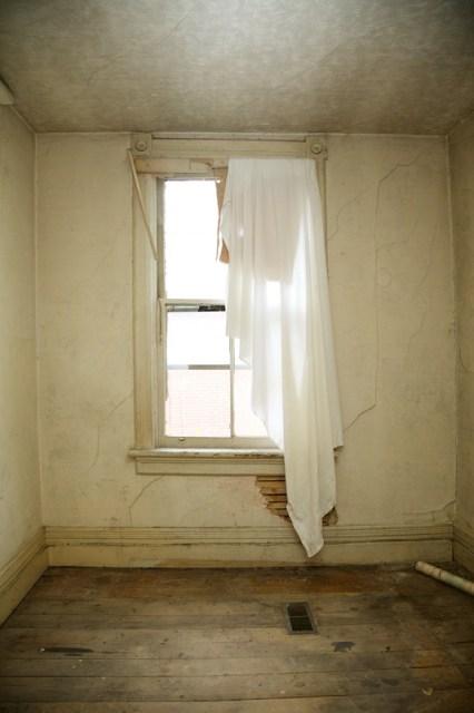 Bedroom in derelict house.   (c) Allyson Scott