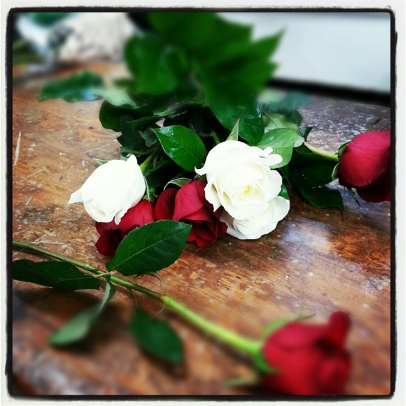 Roses at the florist's.  (c) Allyson Scott