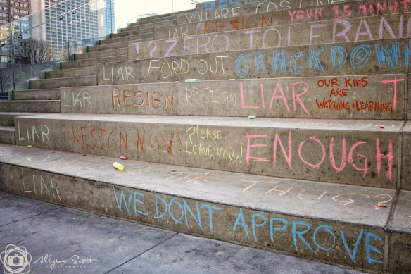 Toronto City Hall graffiti