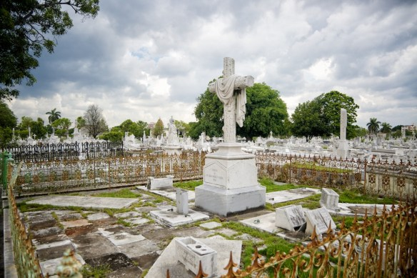 Monuments and graves in Colon Cemetery, Havana