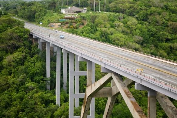 Bacunayagua Bridge leading to Matanzas, Cuba