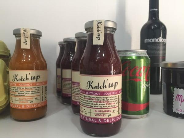 Ketchup PUR: zanahoria y remolacha.