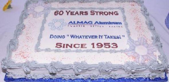 I got your back!  ALMAG Aluminum's 60th Celebration