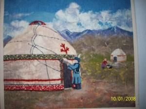 панно в национальном стиле, современное искусство, войлок в Алматы, войлок в Бишкеке, Мастер войлока, войлоковаляние, подарок из войлока, купить подарок, подарок из Алматы