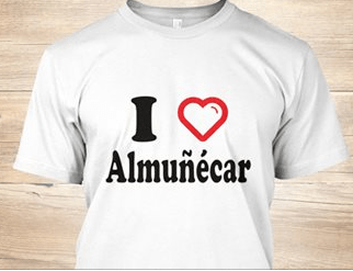 Almuñécar is a great place to live and visit!  What better way of showing your support for this lovely Spanish town than by wearing the I Love Almuñécar T-shirt.