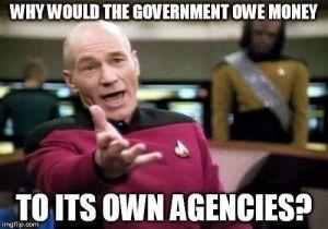 (ترجمة الصورة: لماذا تَدين الحكومة بالمال للوكالات التابعة لها؟)