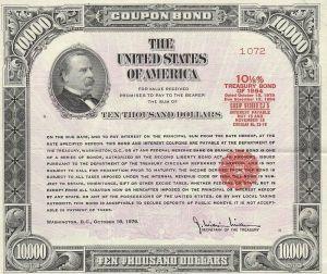 (تعليق على الصورة: سند خزينة أمريكية يعود للعام 1979، الدول قد تشتري كميات كبيرة من هذه السندات، وبالتالي يقومون بعملية إقراض للدولة التي تصدر هذه السندات)