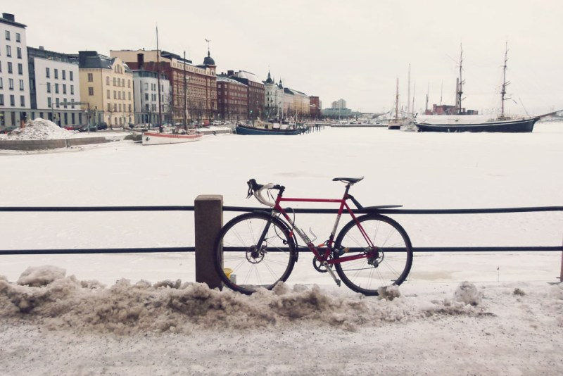 Bike in Snow Helsinki